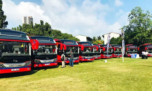 A Batch of China's Luxury Buses Equipped with Yuchai Engines Unveiled in Sri Lanka